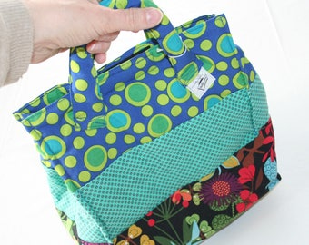 Lunch bunch bag multicolored ideal for carrying her picnic lunch or a small snack