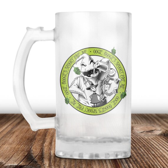 Oogie Boogie Beer Mug- Oogie Boogie from Nightmare Before Christmas- Oogie Boogie Spooky Pale Ale -Craft Beer Mug -Beer Mug -Beer Lover Gift