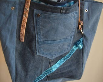 Glitter handles with recycled denim