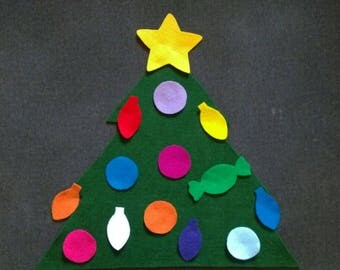 Felt Christmas Tree Set // Holiday // Decorate // Creative Play // Quiet Activity // Flannel Board // Felt Board