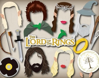 Printable Lord of The Rings Photo Booth Props, Instant Download The Hobbit Party Photo Booth Props, The Lord of The Rings Party Props 0052