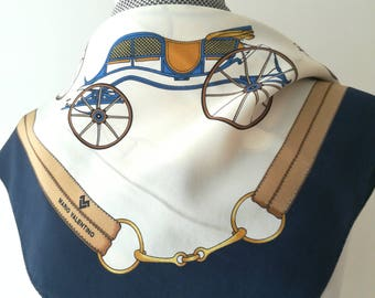 Mario Valentino vintage scarf with carriages