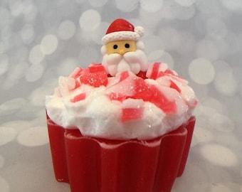 On Sale Santa Soap - Santa Claus Soap - Candy Cane Soap - Candy Soap - Christmas Soap - Holiday Soap - Stocking Stuffers - Kids Soap - Novel