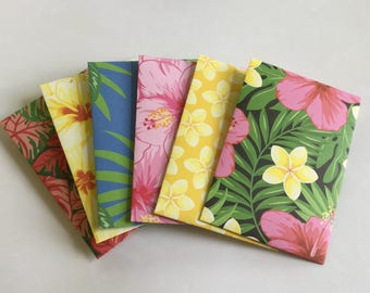 Tropicsl envelopes, hibiscus pattern, pen pal, lunch box notes, love notes, stationery, pretty envelopes, gift card envelopes, set of 6