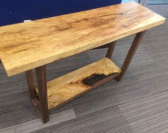 Spalted maple and black walnut entry / sofa table