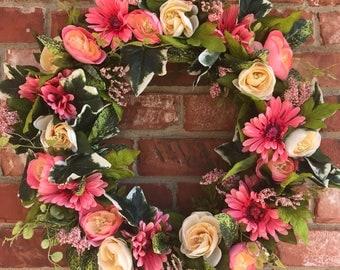 Valentines Wreath, Spring Wreath, Summer Wreath