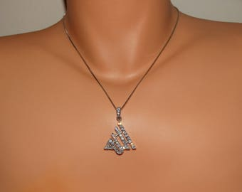 Sterling Silver Stamped On The Chain Not On Pendant Necklace.