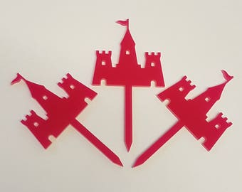Fairytale Castle Cupcake Toppers x 3 - Acrylic