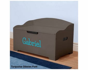 Personalized Dibsies Modern Expressions Signature Series Toy Box, Brown - Boys