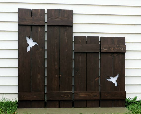 Window Shutters Rustic Cabin Decor Southwestern Decor Wood