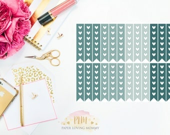 January Checklist Stickers | Planner Stickers designed for use with the Erin Condren Life Planner