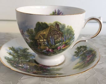 Royal Vale english cottage tea cup and saucer