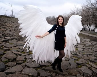 Giant White Angel Cosplay Wings