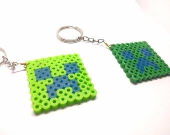 Minecraft Perler Keychain - Green - Keychain