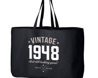 70th Birthday, 70th Birthday Idea, Great 70th Birthday Present, 70th Birthday Gift 1948 Birthday, 70th Birthday Bag, Tote, Shopping Bag
