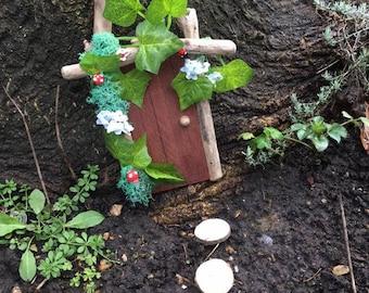 Fairy door and stepping stones