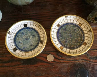 Two vintage accessory dishes
