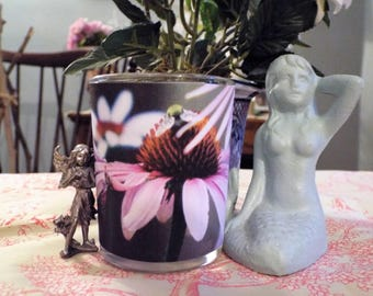 Nature's Bounty Collection-Pink Flower votive candle