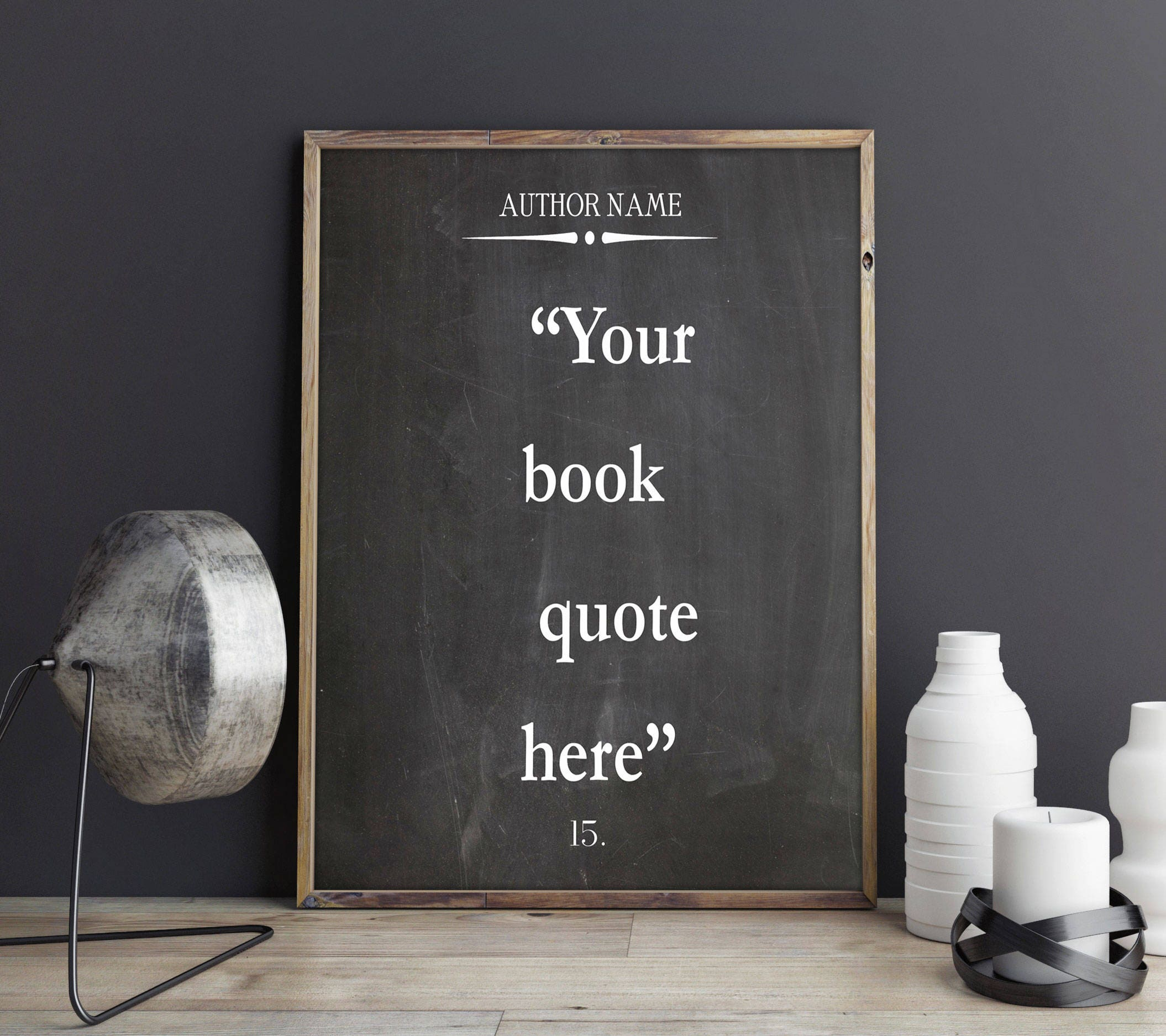Custom Quote Prints Custom Quote Print Custom Book Quote On Chalkboard Background