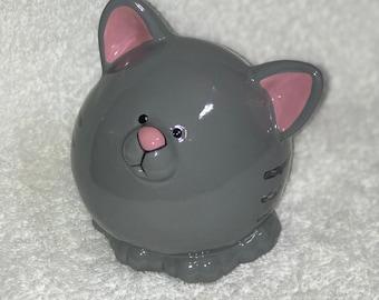 Seal piggy bank ceramic piggybank personalized baby gift baby kitty piggy bank ceramic piggybank personalized baby gift cat piggy bank ceramic bank custom hand negle Image collections