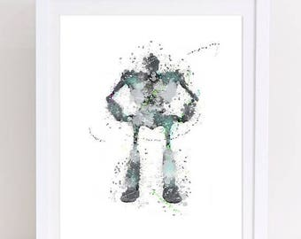 70%OFF The Iron Giant Watercolor Poster Warner Bros Poster Printable Iron Giant Print Watercolor nursery printable art kids decor robot deco