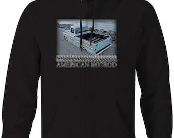 American Classic Chevy Truck Apache Fleetside Beach Muscle Hooded Sweatshirt- 5094
