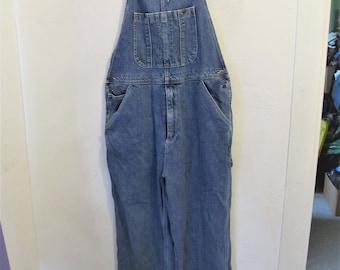 Vintage 90's,Blue Denim HiP H0P era Bib OVERALLS By AUSTIN Clothing.L(34x32)