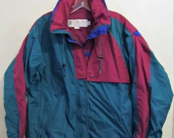 A Women's Vintage 80's,Funky Tri-Colored,AVANTE GARDE era 3 Seasons Jacket By C0LUMBIA Citerion.L