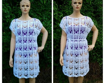 Crochet Pineapples in the Sun Swimsuit Cover Ladies Dress Pattern Size xL DIGITAL DOWNLOAD ONLY