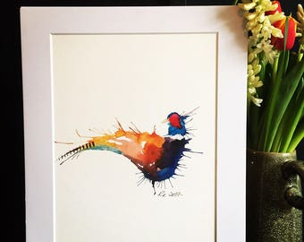 Pheasant Watercolour Print