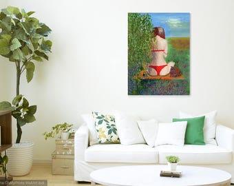 Erotic Figure Painting, Erotic Art, Figure Painting, Female Back, Female Figure, Erotic Painting, acrylic art, original painting, Woman