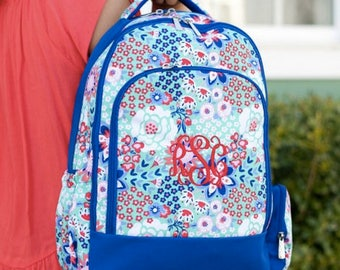 Monogrammed Garden Party Backpack ~ Monogrammed girls backpack ~ Back to school backpack