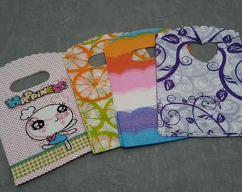 Bags plastic pockets for creating gifts candy drageees jewelry, 14 x 9 cm