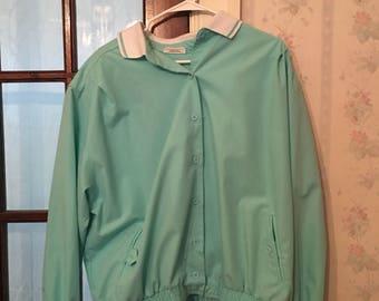 Vintage Retro seafoam green jacket