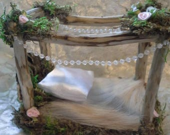 Fairy bed, Ooak bed, miniature bed