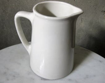 Grindley England 1940s Hercules Vitrified Earthenware White Pitcher Vintage