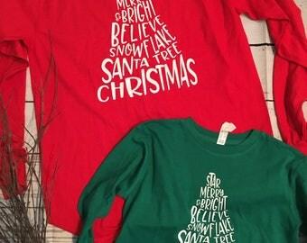 Christmas Long sleeve kids tee