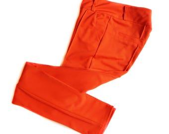 Vintage Polyester Orange/Red Pants