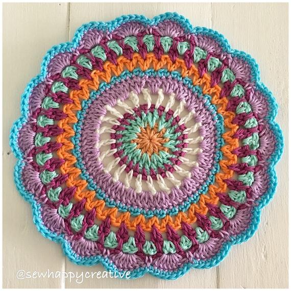Crochet Mandala Pattern Mandala Doily Pattern Crochet