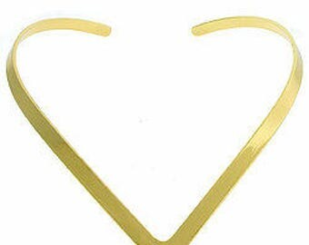 Goldtone Point Choker Necklace