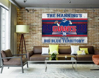 ny giants stretched canvas wall art add your name customized retro