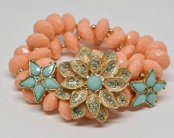 Charming Pink color Beaded Bracelet