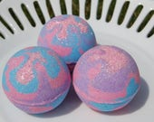 Princess Bath Bomb - Toy Inside Bath Bomb - Hidden Ring Inside - Bubble Gum Scented - Pink, Purple, and Blue Bath Bomb - Shimmery Bath Bomb