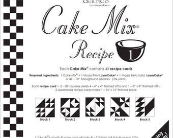 Cake Mix Recipe Pack #1 from Miss Rosie's Quilt Company