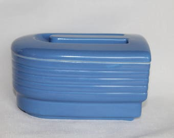 Hall China Blue Streamline Refrigerator Dish Made for Westinghouse