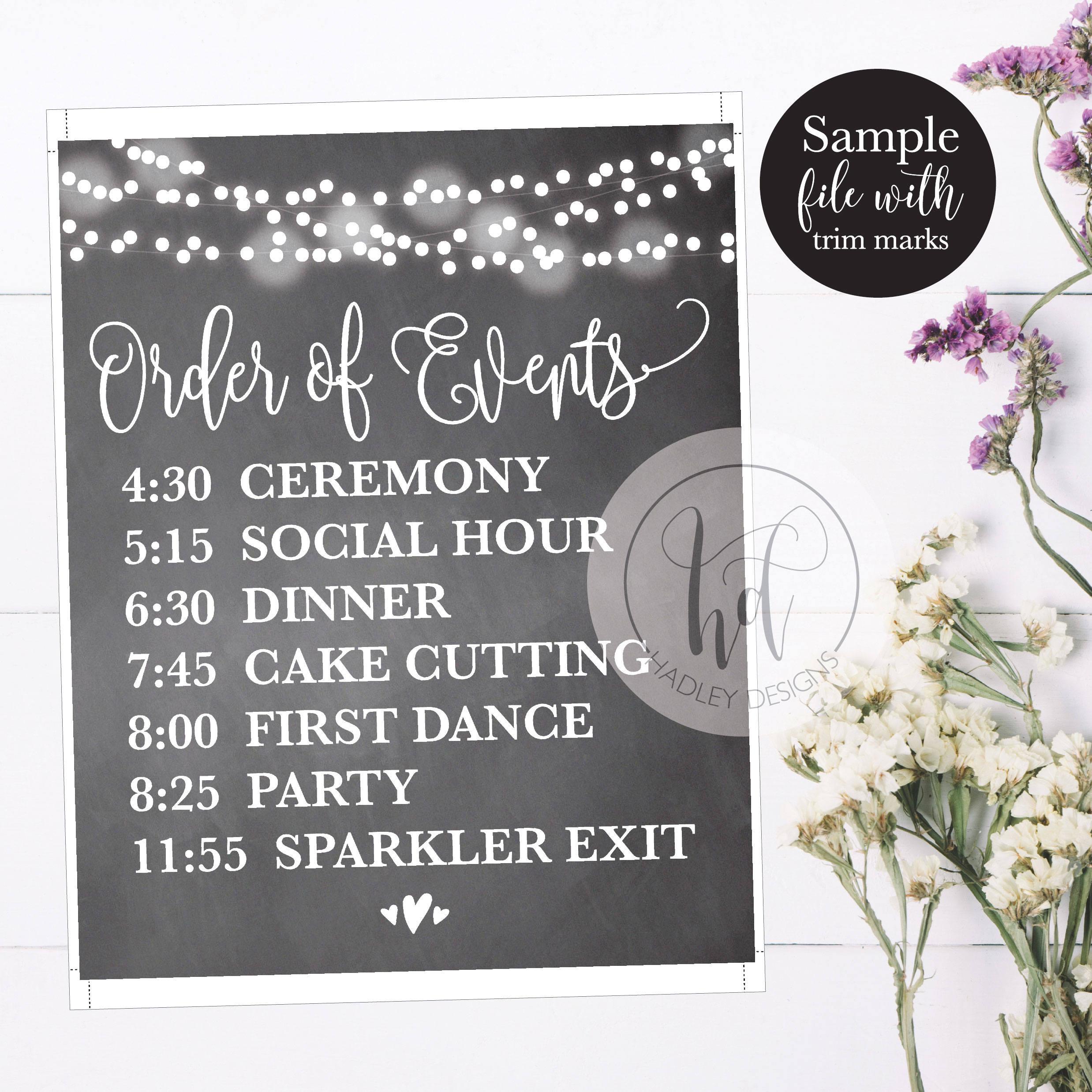Wedding Reception Schedule Wedding Schedule Template This Site