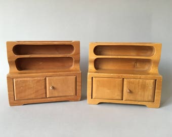 Antonio Vitali Creative Playthings wooden toy - Dollhouse Furniture 2 Sideboards - Perfect Gift