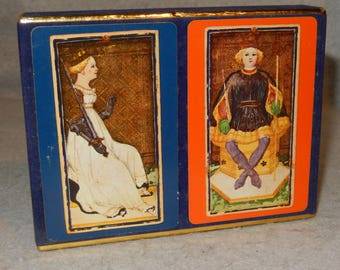 CONGRESS Playing Cards QUEEN Swords 2 Decks KING Clubs Poker 1 Sealed Tax Stamp  Tarot ~Free Shipping