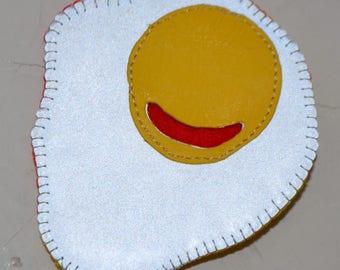 Safety reflector, funny reflector, egg reflector, shining egg, funny egg, reflecting brooch