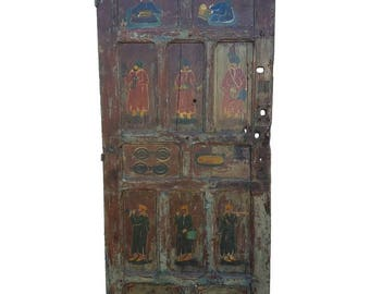 Asian Moroccan Multicolor Door Vintage